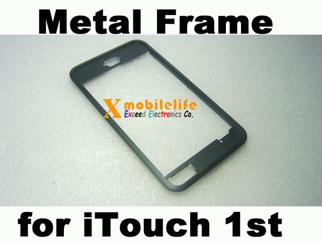Metal Middle Bezel Chrome Frame Housing for iPod Touch 1st Gen 8GB 16GB 32GB