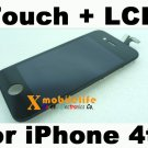 Black Touch Digitizer Glass Screen LCD Display Assembly for iPhone 4th Gen 16GB 32GB