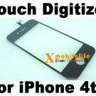 Black Touch Digitizer Glass Screen Faceplate for iPhone 4th Gen 4G 16GB 32GB