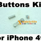 New OEM Metal Side Volume Buttons Top Power On/Off Button key Kit for iPhone 4th Gen 4G 16GB 32GB