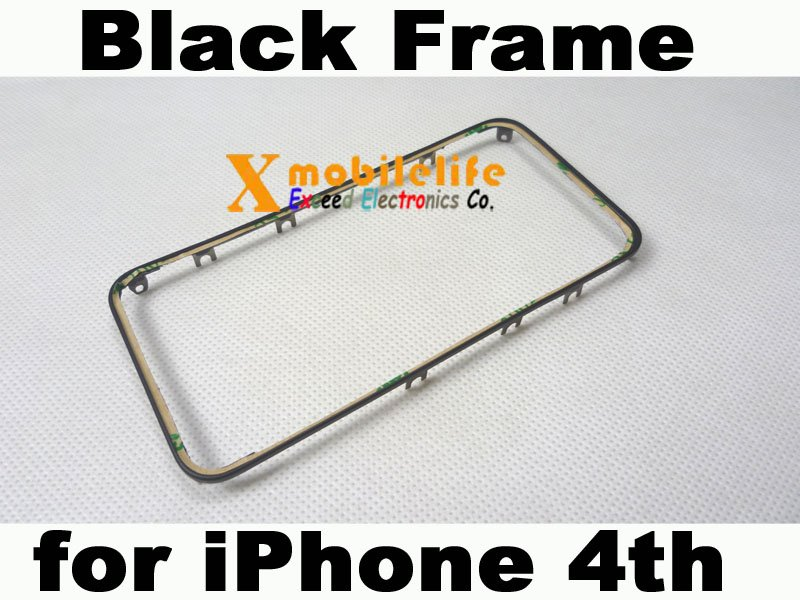 Black Middle Plastic Frame Bezel Housing + Adhesive for iPhone 4th Gen 16GB 32GB
