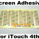 5/sets Touch Digitizer LCD Screen 3M Adhesive Glue Tape for iPod Touch 4th Gen 8GB 32GB 64GB