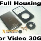 Black Front Faceplate Fascia Housing Back Case Clickwheel for iPod 5th Gen Video 30GB