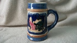 Vintage Beer Stein Mug Japan