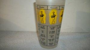 Vintage Bar Mixer Glass