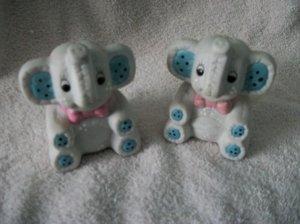 Stuffed Elephant Look salt And pepper shakers