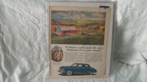 1948 Studebaker Original Print Ad