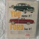1950 Ford Car Ad Original