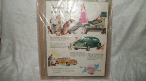 1947 Ford Car Ad Original