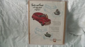 1947 Ford Car Ad Original Out Front