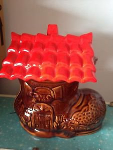 Old Woman Who Lived In A Shoe Cookie Jar Vintage Excellent