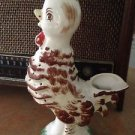 Ceramic White & Brown Rooster Water Pitcher VintageBarn Yard Farm Collectable
