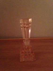PINK DEPRESSION Glass PERFUME BOTTLE Beautiful Long Dauber
