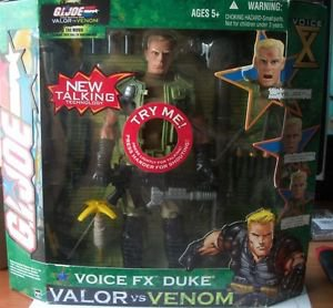 "2004 Hasbro GI Joe Valor VS Venom 11.5"" Voice FX Duke Action Figure"