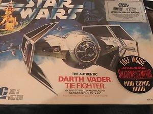 STAR WARS DARTH VADER TIE FIGHTER MODEL KIT ERTL 8916 COMMEMORATIVE NOS Sealed