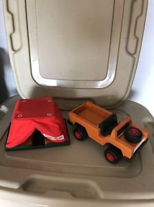 Vintage Fisher Price 304 Safari Land Rover And Tent