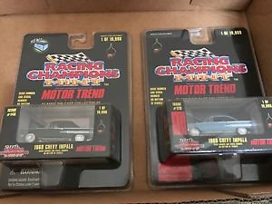 RACING CHAMPIONS LOT OF 2 1960 CHEVY BUBBLE TOP MINT MOTOR TREND EDITION