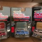 RACING CHAMPIONS LOT OF 3 CLASSICS MINT EDITION CHEVYs 1996 MIP