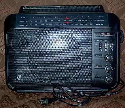 GE Superadio Vintage AM FM Hi Performance Model 7-2887A