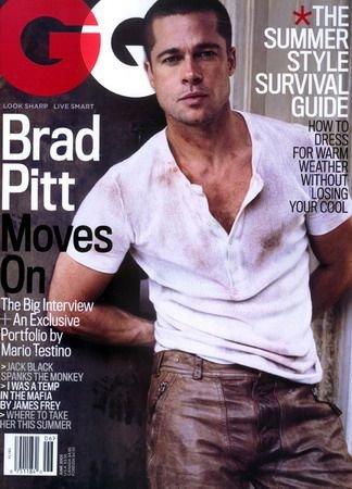 Gq Magazine Brad Pitt Cover 06 2005