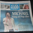 USA TODAY Newspaper Michael Jackson, Farrah Fawcett Dies issue