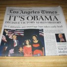 LA Times-Barack Obama Wins US Presidency story 11/05/08