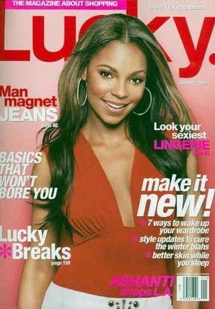 Lucky Magazine-Ashanti Cover 01/2004