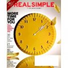 Real Simple Magazine - More Time For You Cover 10/2010