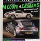 Car and Driver Magazine-BMW M Coupe vs Porsche Cayman S Cover 08/2006