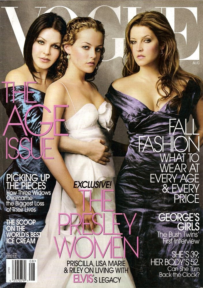 Vogue Magazine-The Presley Women Cover 08/2004