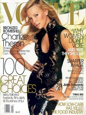 Vogue Magazine-Charlize Theron Cover 08/2004.
