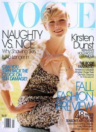 Vogue Magazine-Kirsten Dunst Cover 08/2004