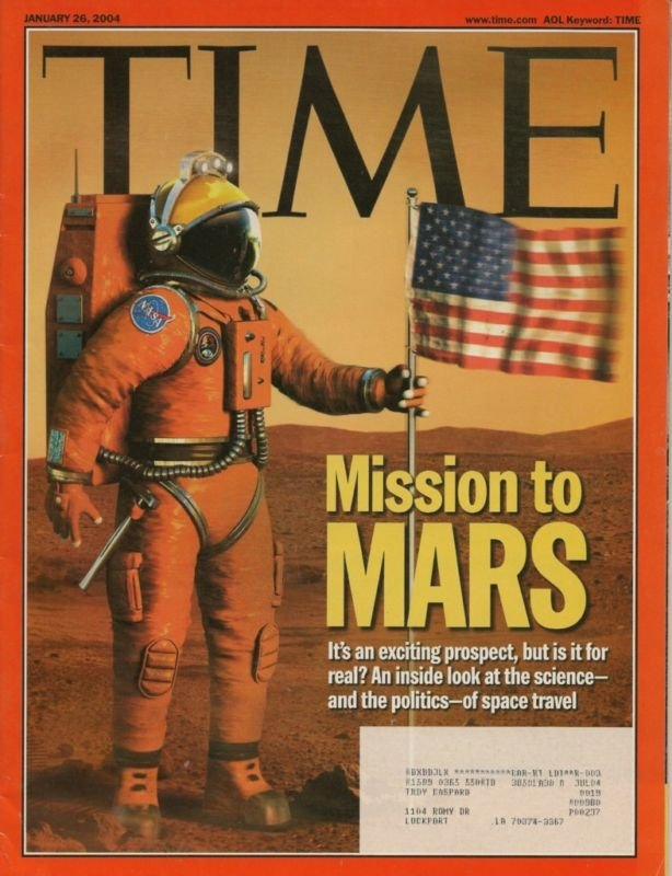 TIME MAGAZINE ~ JANUARY 26 2004 ~ MISSION TO MARS