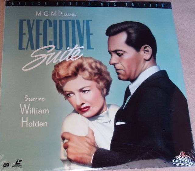 Executive Suite WS Laserdisc starring William Holden, Barbara Stanwyck