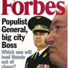 FORBES MAGAZINE 11/16/1998 Populist General, Big City Boss issue