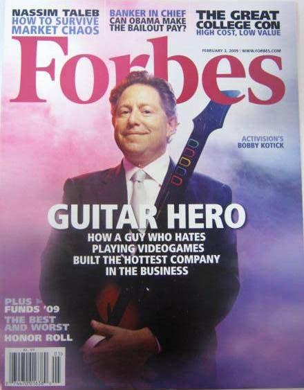FORBES MAGAZINE 02/02/2009 Guitar Hero issue