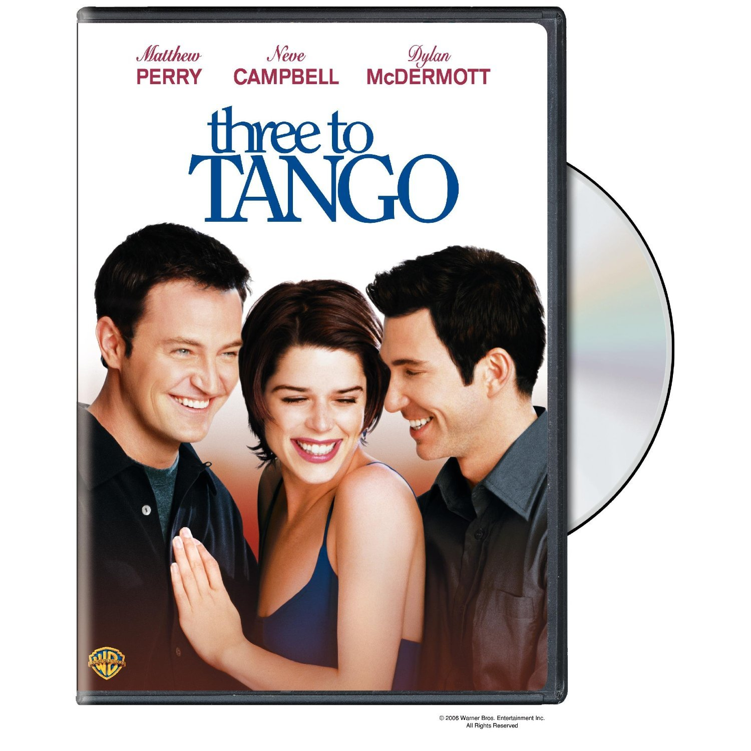 Three to Tango DvD starring Matthew Perry, Neve Campbell
