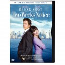 TWO WEEKS NOTICE dvd starring Sandra Bullock, Hugh Grant