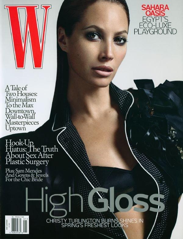 W Magazine-Christy Turlington Cover 01/2009