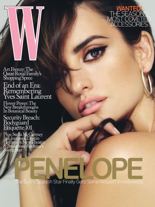 W Magazine-Penelope Cruz Cover 08/2008