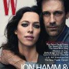 W Magazine-John Hamm & Rebecca Hall Cover 08/2010