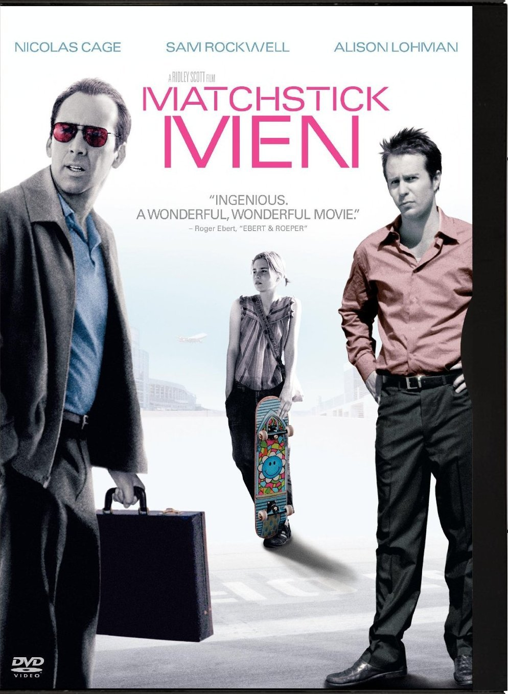Matchstick Men DvD starring Nicolas Cage & Sam Rockwell