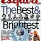 Esquire Magazine-Best & Brightest cover 12/2002 issue
