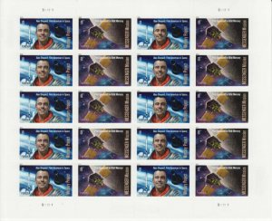 US stamps Mint Pane of 20(forever stamp) Mercury Project/Mission
