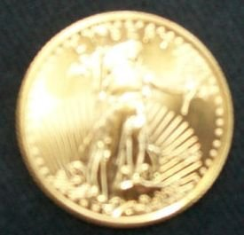 1/4 oz. $10 2009 AMERICAN EAGLE GOLD COIN UNCIRCULATED
