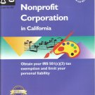How to Form a Nonprofit Corporation in California-9th California Edition, CD Incld