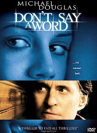 Don't Say a Word DvD starring Michael Douglas