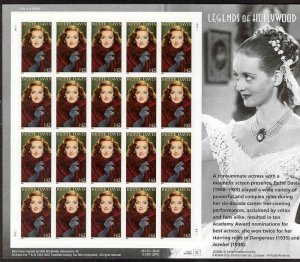 USA Bette Davis 42 cents stamp sheet (20 stamps)