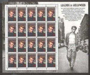 USA James Dean 32 cents stamp sheet (20 stamps)