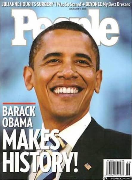 People Magazine 11/17/2008 Barack Obama MAKES HISTORY!